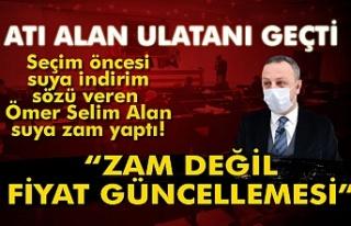 Zonguldak Belediyesi suya zam yaptı.