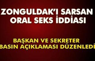 Zonguldak'ı sarsan oral seks iddiası