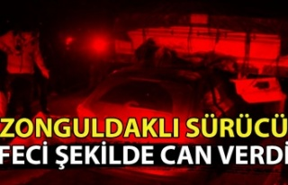 Zonguldaklı sürücü feci şekilde can verdi.