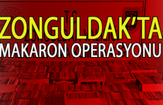 Zonguldak Makaron operasyonu