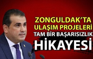 Zonguldak'ta ulaşım projeleri tam bir başarısızlık...