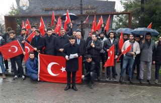 TÜGVA'lı gençlerden Afrin'e destek...