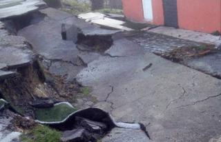 İlkokulun betonu çöktü...