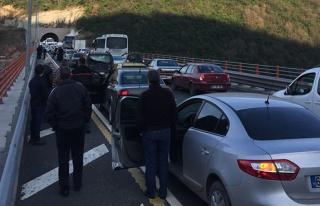 Tünelde kaza... Yol trafiğe kapandı...