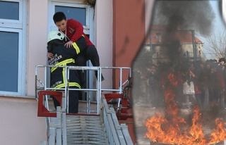 Okulda yangın...