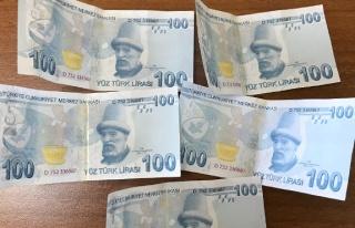 Sahte paralar ile yakalandı...