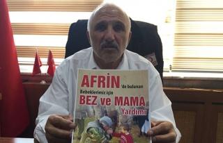 Afrin'e bez ve mama yardımı...