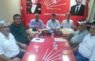 CHP ilçe başkanları toplantısı yapıldı.