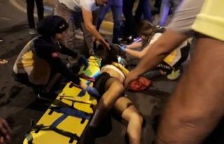 Bisikletli gence çarptı!