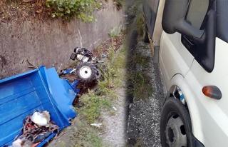 Ticari araç ile pat pat çarpıştı: 2 yaralı