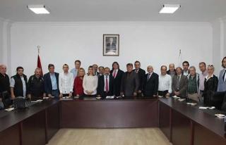 Gazeteciler Cemiyeti'nden Çufalı'ya ziyaret...