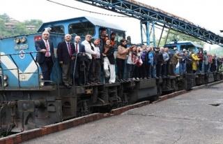 Kömür taşıyan raylar turist taşıyacak