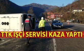TTK işçi servisi kaza yaptı
