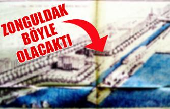 1950'li yıllarda Zonguldak'ın imar planı böyleydi