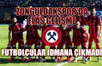 Zonguldakspor'da flaş gelişme... Futbolcular idmana çıkmadı