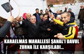 Karaelmas Mahallesi Şanal'ı davul zurna ile karşıladı...