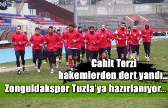 Zonguldakspor Tuzla'ya hazırlanıyor... Cahit Terzi hakemlerden dert yandı...