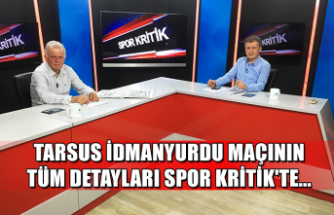Tarsus İdmanyurdu maçının tüm detayları Spor Kritik'te...