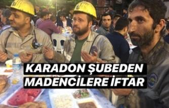 Madencilere dev iftar...
