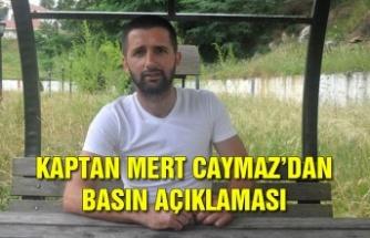 Kaptan Mert Caymaz'dan basın açıklaması