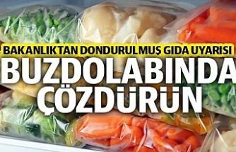Sağlık Bakanlığı uyardı: Dondurulmuş gıdaları buzdolabında çözdürün
