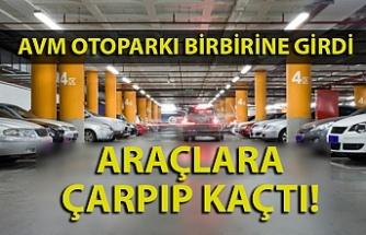 Zonguldak'ta AVM'de araçlara çarpan sürücü kaçtı