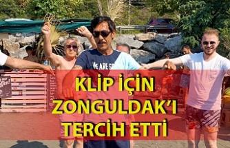 Ankaralı Turgut klip için Zonguldak'ta