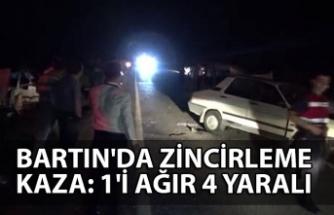 Bartın'da zincirleme kaza: 1'i ağır 4 yaralı