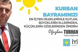 İYİ Parti Kurucu Zonguldak il Başkan yardımcısı Oğuzhan Turhan'dan bayram mesajı