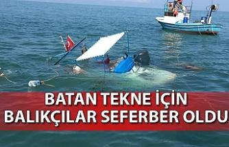 Batan tekne için Balıkçılar seferber oldu
