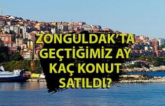 Zonguldak'ta ağustos ayında kaç konut satıldı?