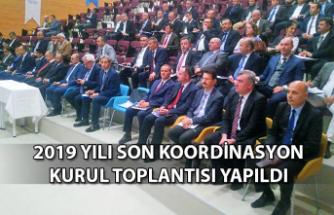 2019 yılı son koordinasyon kurul toplantısı yapıldı...