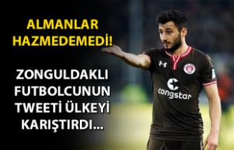 Almanlar hazmedemedi... Zonguldaklı futbolcunun tweeti ülkeyi karıştırdı