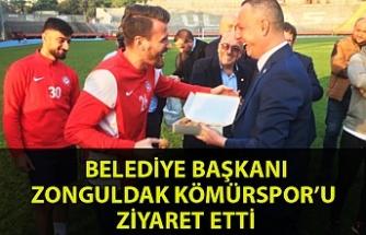 Belediye Başkanı Zonguldak Kömürspor'u ziyaret etti