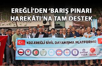 Ereğli'den 'Barış Pınarı Harekâtı'na tam destek