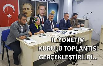İl Yönetim Kurulu Toplantısı gerçekleştirildi...
