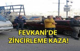 Fevkani'de zincirleme kaza