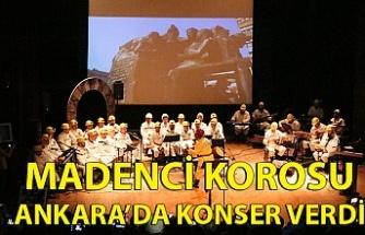 Madenci Korosu Ankara'da konser verdi