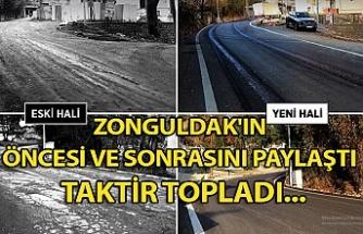 Zonguldak'ın öncesi ve sonrasını paylaştı... Taktir topladı...