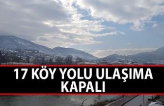 17 köy yolu ulaşıma kapalı