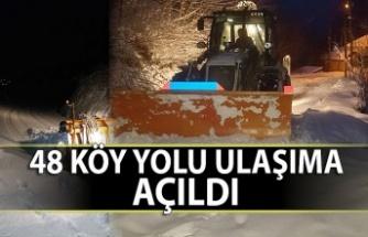 48 köy yolu ulaşıma açıldı