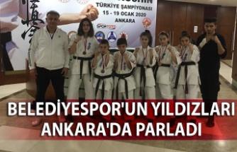 Belediyespor'un yıldızları Ankara'da parladı