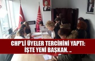 CHP'li üyeler tercihini yaptı: İşte yeni başkan. ..