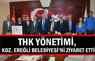 THK yönetimi, Kdz. Ereğli Belediyesi'ni ziyaret etti