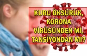 Kuru öksürük, korona virüsünden mi, tansiyondan mı?