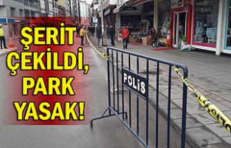 Şerit çekildi, park yasak!