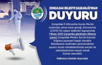 Zonguldak Belediyesi'nden duyuru