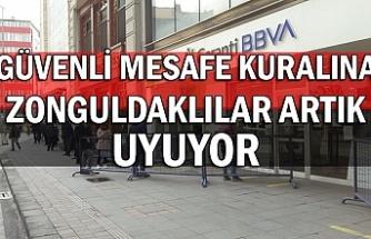 Güvenli mesafe kuralına Zonguldaklılar artık uyuyor