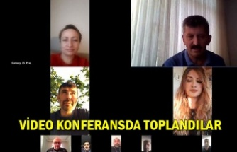 Video konferansda toplandılar