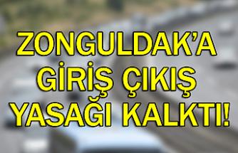 Zonguldak'a giriş çıkış yasağı kalktı!